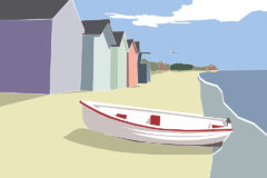 @2018 Mike Temple Illustration   Beach huts