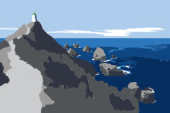 @2018 Mike Temple Illustration   Nugget Point