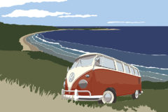 @2018 Mike Temple Illustration   VW in it's natural environment